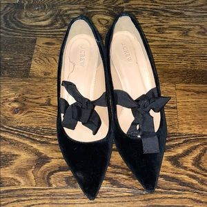 J. Crew adorable black velvet heels